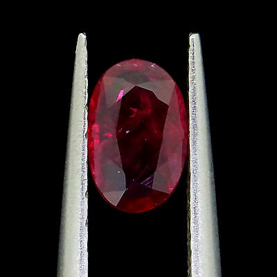 loose Natural Unheated ruby 0.46ct oval cut loose gemstones