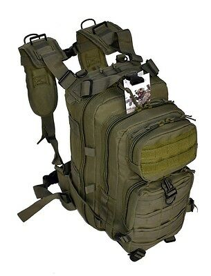 OD Army Green Tactical Military Style Assault Pack Backpack w/ Molle Medic