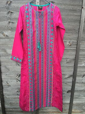 BNWT Stitched Embroidered Suit Gul Ahmed Sana Safinaz Size Small