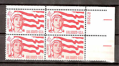 US  Sc# 1199 Girl Scouts Flag Cap  Mint NH PLATE # BLOCK