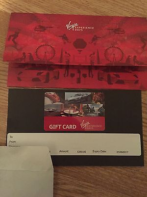 Virgin Experience Days £250 Gift Card