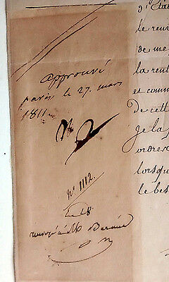 Napoleon Bonaparte Authentic Autographed Signed Notes In His Hand Document 1811