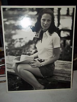 Vintage 8 X 10 Glossy Photo Black And White Country Girl
