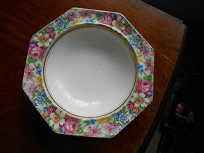 Palissy ware cereal/dessert bowl 2910 - pretty floral pattern