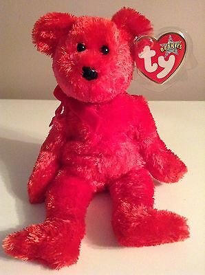 """TY Beanie Baby Red Bear Valentines Love """"SIZZLE"""" Retired"""