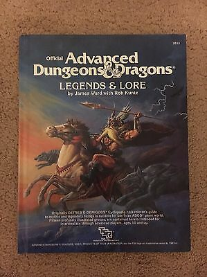 Advanced Dungeons & Dragons Legends And Lore. Very Good Condition.