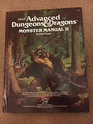 Advanced Dungeons & Dragons Monster Manual II. Very Good Condition.