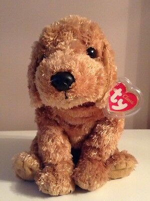 """TY Beanie Baby Large Brown Dog """"Cody"""""""