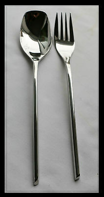 2 Piece Cutlery Stainless Steel Serving   Fork, Spoon Set 002