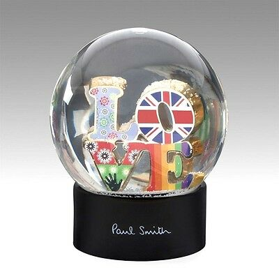 Beautiful & Rare Paul Smith Large Glass Love Snow Globe Gift Boxed Rrp £149