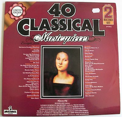 40 CLASSICAL MASTERPIECES  - Vinyl DOUBLE LP - Pickwick Records PLD 8007