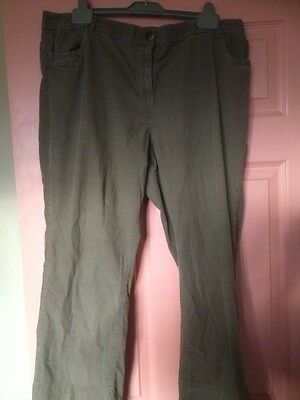 Great Straight Leg Cord Trousers Size 18