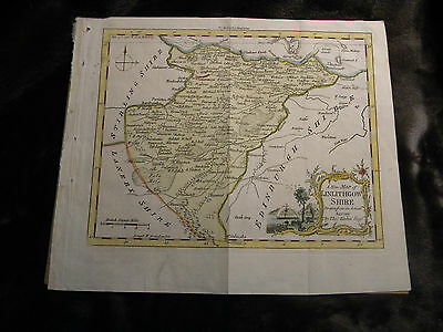 1763 Antique Print/LINLITHGOW SHIRE, SCOTLAND/ Drawn from an Actual Survey