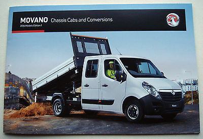 Vauxhall . Movano . Chassis Cabs . 2016 Models Edition 1 . Sales Brochure