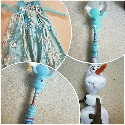 Frozen dress and toys  bundle��olaf talking ��