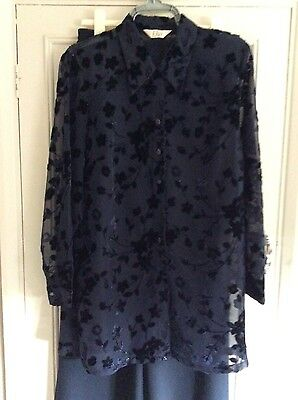 Ladies Blouse and trousers by Elvi size 16