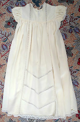 Vintage Baby Silk Dress Christening Embroidered Lace Treasure Cottage Oxford St.