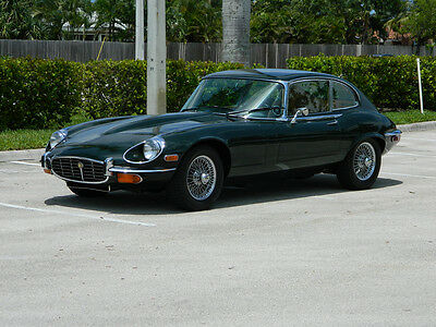 1971 Jaguar E-Type XKE 1971 JAGUAR XKE V-12 2+2 SERIES III COUPE BRITISH RACING GREEN A/C AUTO WIRES