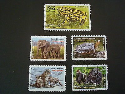 2016 - Endangered Wildlife - Used Set of 5 x $1 stamps