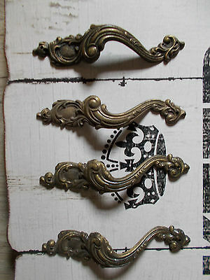 Antique French Drawer Pull Handles Stunning French Empire Style 4 Salvaged  Fab