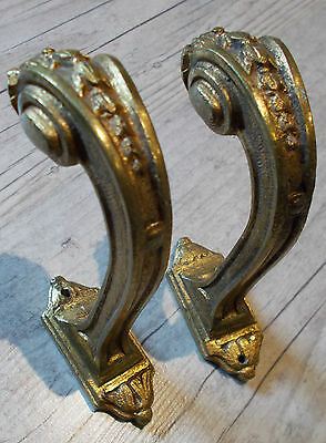 Antique French Curtain Tieback Hooks Stunning French Empire Style Gilt Bronze