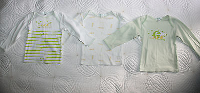 Vertbaudet Set of 3 Long Sleeved Tops Sz 12-18 month