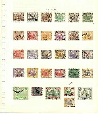 Federated Malaya States 1900-34 Leaping Tigers Used Colln With Many Shades Etc