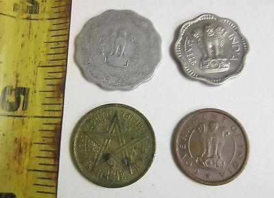 Lot Of Four Coins - India - Good Condition