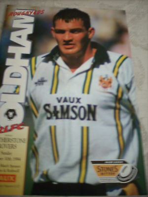 30.10.94 Oldham v Featherstone Rovers programme
