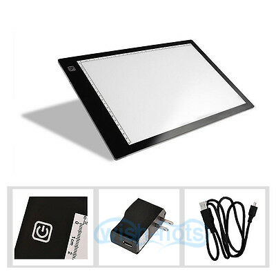 A4 12V DC LED Tracing Adjustable Artist Thin Art Stencil Drawing Board Light