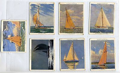 John Player 1938 Racing Yachts Large Cigarette Cards X7