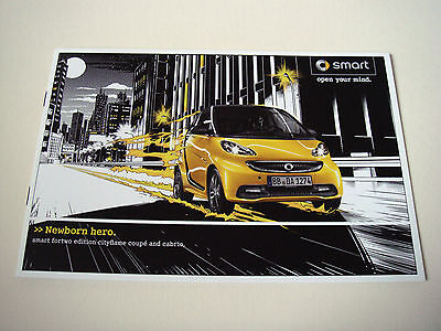 Smart . fortwo . edition cityflame . 2012 Sales Leaflet