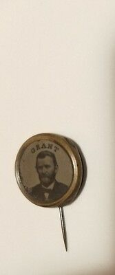 1868 ULYSEES Grant Political Campaign FERROTYPE 17mm