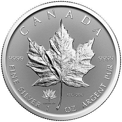 2017 Canada 150 Privy Mark 1 oz Silver Maple Leaf Reverse Proof Coin *Pre-Order*