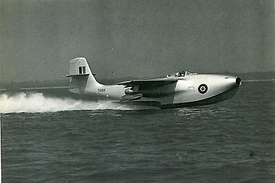 Saunders Roe Sr/a1 Jet Fighter Flying Boat - Postcard View