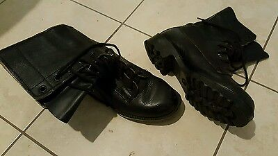 Australian Army Black Leather boots size 8/39