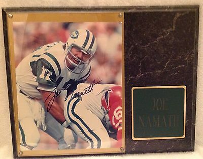 *FB Icon JOE NAMATH #12/ NY JETS/  SIGNED 8x10 PHOTO/EXCLUSIVE CUSTOM FRAME