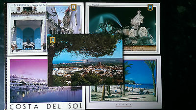 5 Spanish postcards 1996-2003 Madrid, Javea & Marbella
