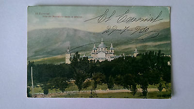 1912 El Escorial Spain Vintage colour postcard