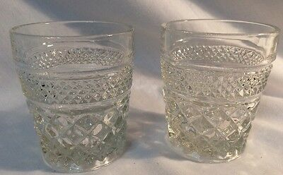 2 Wexford Rocks Old Fashioned Glasses Anchor Hocking-EXCELLENT