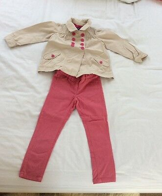 Next Pink Jeans,Gap Coat Girl Outfit size 4yrs