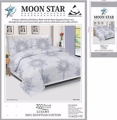 Egyptian Cotton Duvet Cover Set, Quilt Bedding Set With Pillow Cases & bed Sheet
