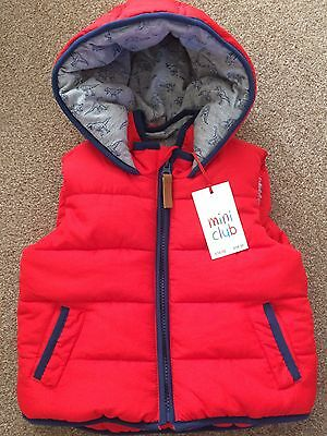 BNWT baby Padded Gillet Sleeveless WaistCoat 9-12 Months Rrp £16