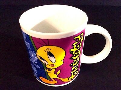 Tweety Bird Looney Tunes Character Cup Mug 12 oz Warner Bros 2000 Ceramic Rare