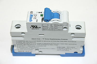 Lot of 12 Altech 1DU15R 15A DIN Rail Single Pole 277VAC Circuit Breakers