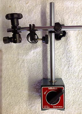 """""""NEW"""" Mitutoyo Magnetic Base No. 7011 BN w/ Fine Adjustment for Dial Indicators"""