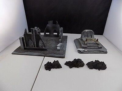 WARHAMMER 40k SCENERY custom built Temple Ruins Church Ruins painted (RD3 480)