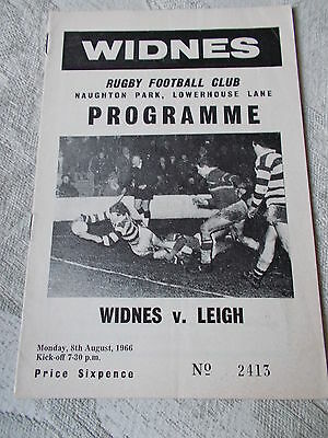 8.8.66 Widnes v Leigh programme