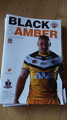 9.3.14 Castleford Tigers v Wigan Warriors programme