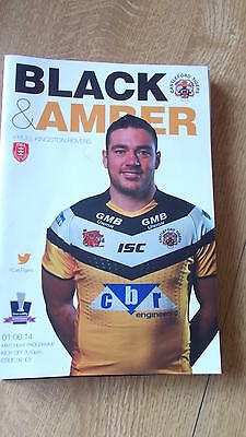 1.6.14 Castleford Tigers v Hull Kingston Rovers programme